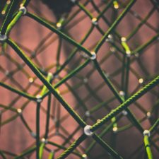 Netzstruktur aus Seil –Corporate Blogs